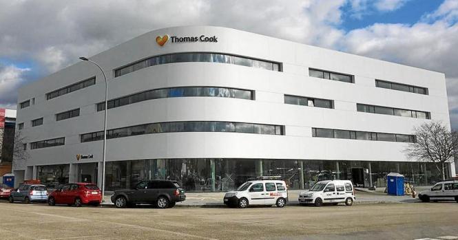 Blick auf die Thomas-Cook-Zentrale in Palma.