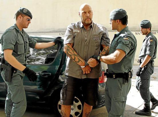 Hanebuth bei seiner Festnahme auf Mallorca.
