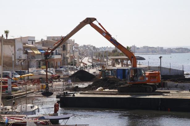 So unheimelig sieht es derzeit im Molinar-Hafen aus.