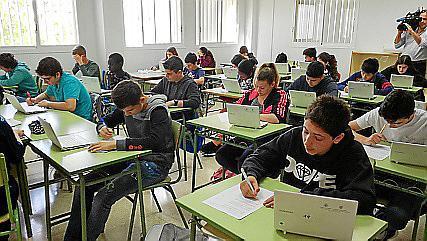 Schüler einer Klasse in Palma.