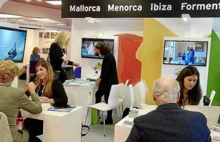 Der Balearen-Stand auf der Luxustourismus-Messe in Cannes.