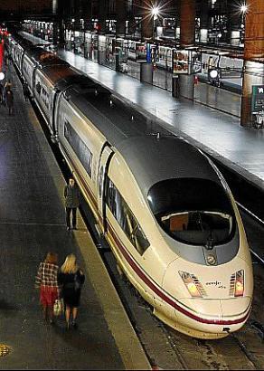 Sieht ein bisschen aus wie der ICE: Der spanische Hochgeschwindigkeitszug AVE.