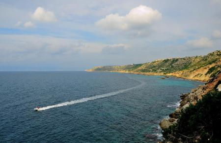 Die markante Küste bei Maioris.