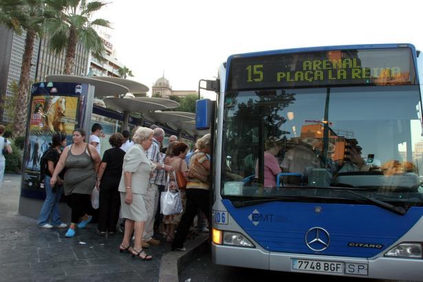 Mit der Linie 15 war es kein Problem, von der Playa de Palma ins Zentrum zu gelangen.