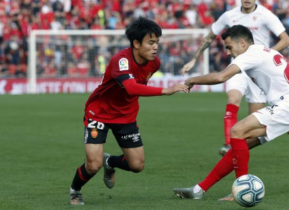 Auch der engagierte Einsatz von Reals Star-Japaner Takefusa Kubo half den Mallorquinern gegen den FC Sevilla nicht weiter.