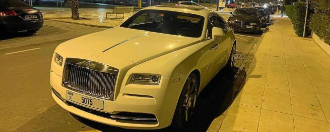 Blick auf den Rolls Royce, den der Täter fuhr.