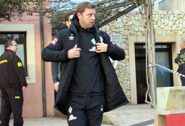 Werder-Bremen-Cheftrainer Florian Kohfeldt auf dem Trainingsgelände von Real Mallorca in Son Bibiloni vor den Toren von Palma.