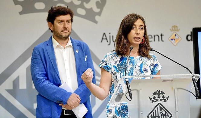 Die ehemalige Emaya-Chefin Neus Truyol bei einem Auftritt im September, nachdem der Fall der Abwasserverschmutzung aktenkundig wurde.
