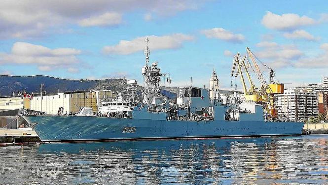 """Die """"Halifax"""" nach ihrer Ankunft in Palma."""