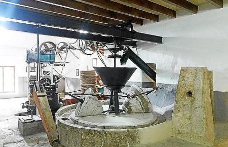 Besucher erfahren, wie eine alte Ölmühle funktioniert.