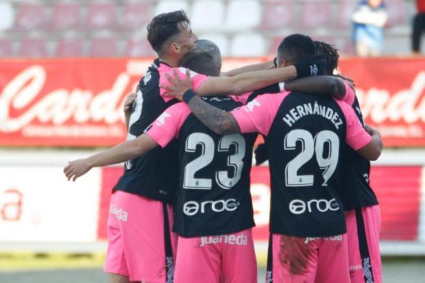 Die Mallorquiner bejubeln in Zamora das 1:0 durch Aleix Febas.