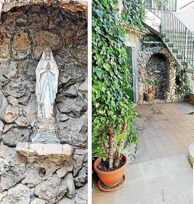 Der Platz in der kleinen Grotte am Kircheneingang ist jetzt leer.