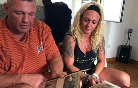 Das Bodybuilder-Paar auf Mallorca.