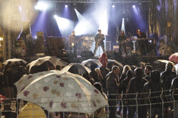 Auch 2015 regnete es in Strömen an Sant Sebastià.