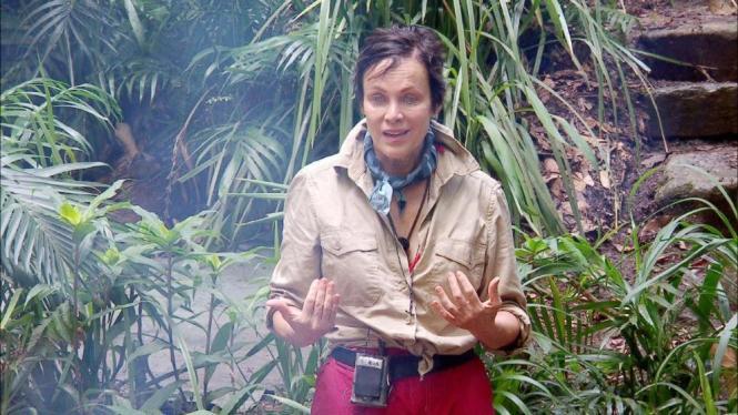 """Sonja Kirchberger in der Sendung """"Ich bin ein Star, holt mich hier raus""""."""