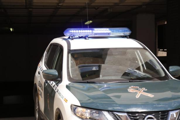 Fahrzeug der Guardia Civil im Einsatz.