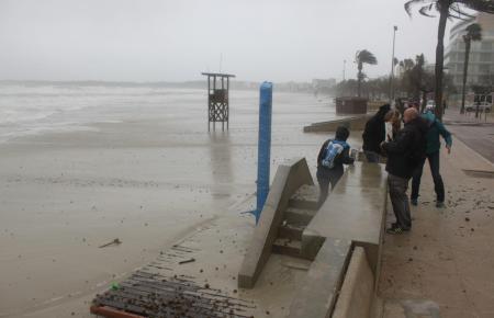 So sah es am Dienstag am Strand von Cala Millor aus.