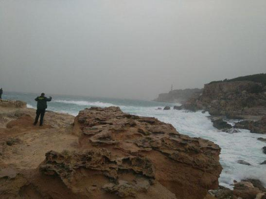 Die Gegend von Portinatx während des Sturms.