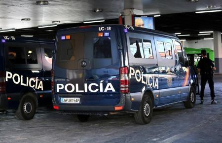 Einsatzfahrzeug der Nationalpolizei.