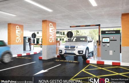 Eine mögliche Option der zukünftigen Nutzung des ehemaligen Einkaufszentrums unterhalb der Plaça Major ist ein Parkhaus.
