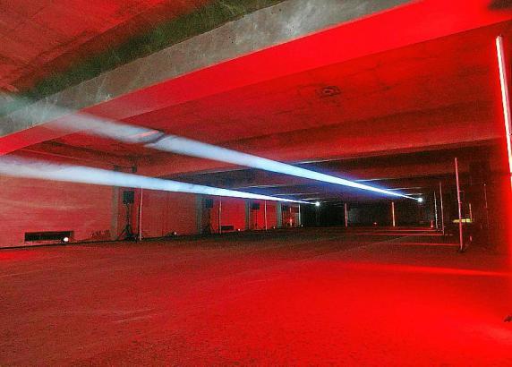 Mit Licht- und Klanginstallationen wie auf diesem Archivfoto feiert das Es Baluard Museum in Palma seinen 16. Geburtstag.