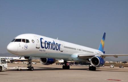 Condor-Flieger auf dem Palma-Airport.