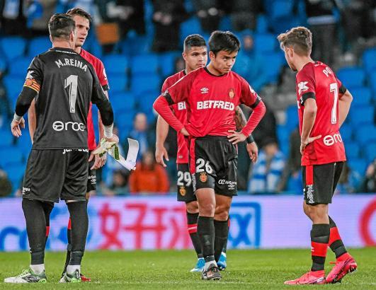 Ziemlich niedergeschlagen: Real-Mallorca-Kicker nach dem Schlusspfiff in San Sebastián.