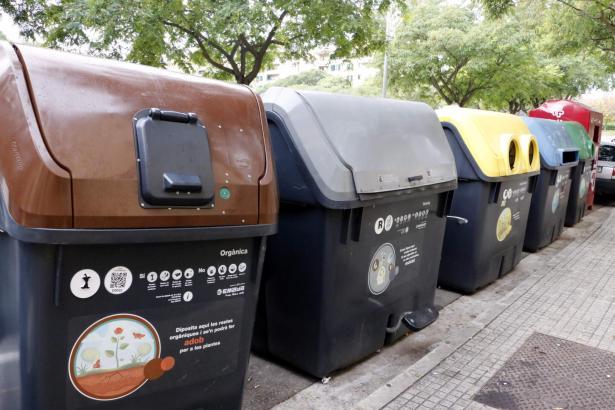 So sehen die aktuellen Müllcontainer in den Straßen von Palma aus.