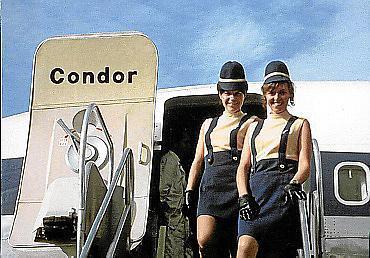 Condor-Stewardessen vor vielen Jahrzehnten.