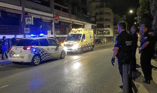 Nachts hat die Polizei an der Plaça Gomila immer viel zu tun.