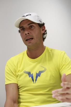 Rafael Nadal bei einer Pressekonferenz.