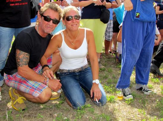 Peter Maffay mit seiner damaligen Ehefrau Tania vor vielen Jahren auf Mallorca.