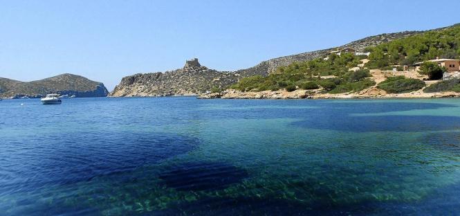 Blick auf die Mini-Insel Cabrera.