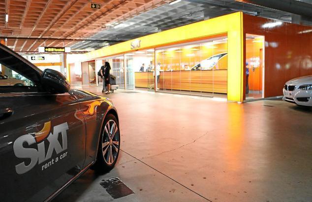 Die Sixt-Niederlassung am Mallorca-Flughafen.