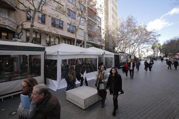Solche Zelte will die Stadt Palma nicht mehr erlauben.