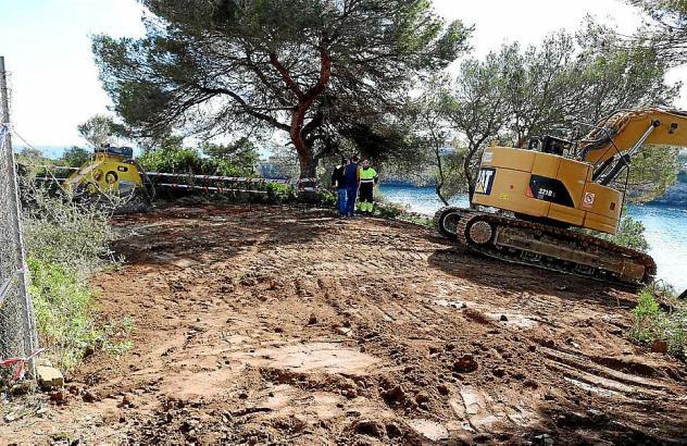 In der vergangenen Woche wurde die Villa dem Erdboden gleichgemacht.