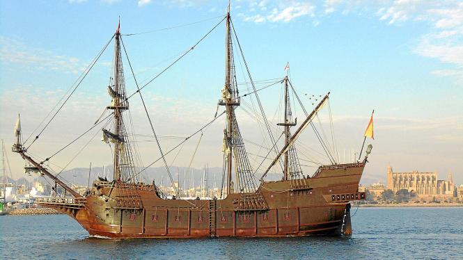 Vom 13. bis 23. Februar kann die historische Galeere in Palmas Hafen besichtigt werden.