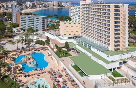 Wohl auch in dieser Hochsaison gut ausgelastet: Hotels in Magaluf.