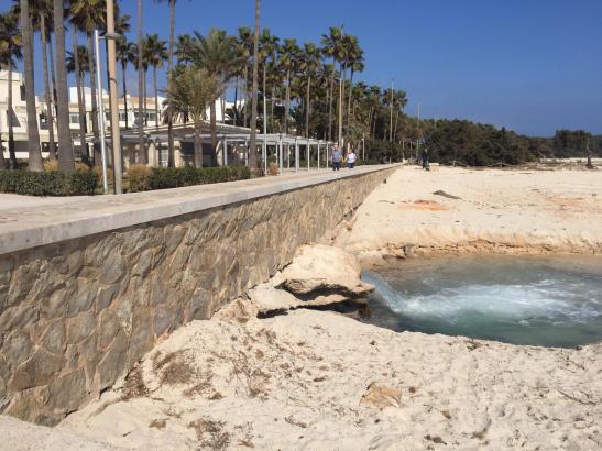 So sieht es derzeit am Strand von Sa Coma aus.