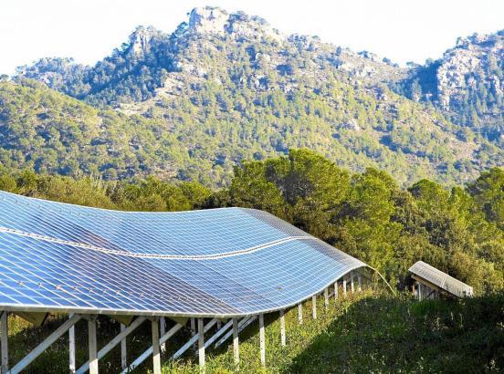 Solarpark bei Son Servera.