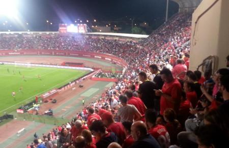 Bei Real Mallorca hatte man darauf gehofft, dass die Fans in einem voll besetzten Stadion Son Moix, wie hier im vergangenen Oktober gegen Real Madrid, Stimmung machen und ihren Teil zum erhofften Sieg gegen Barça beitragen würden.