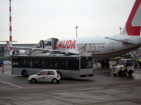 Lauda-Flieger auf dem Palma-Airport.