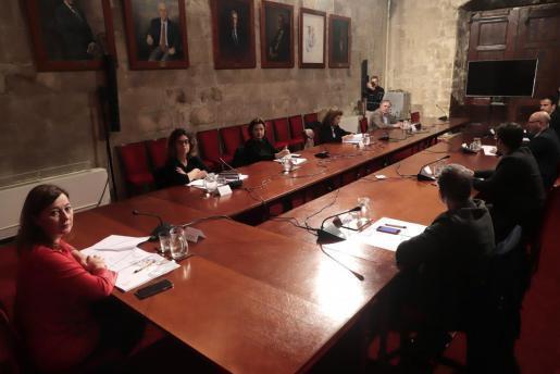 Bei der außerordentlichen Parlamentssitzung am Montagabend kam die balearische Ministerpräsidentin Francina Armengol mit Vertretern der Arbeitgeberverbände und Gewerkschaften der Inseln zusammen.