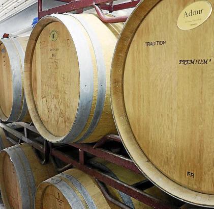 Der Malvasia-Wein wird in Fässern gelagert.