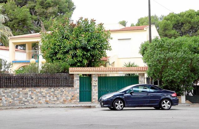 Zeitweise besetztes Haus an der Playa de Palma.