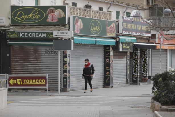 Die verwaiste Innenstadt von Palma.