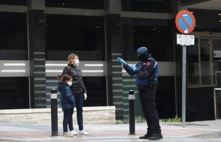 Straßenszene in Spanien.
