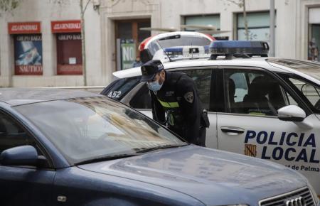 Polizeikontrolle in Palma.