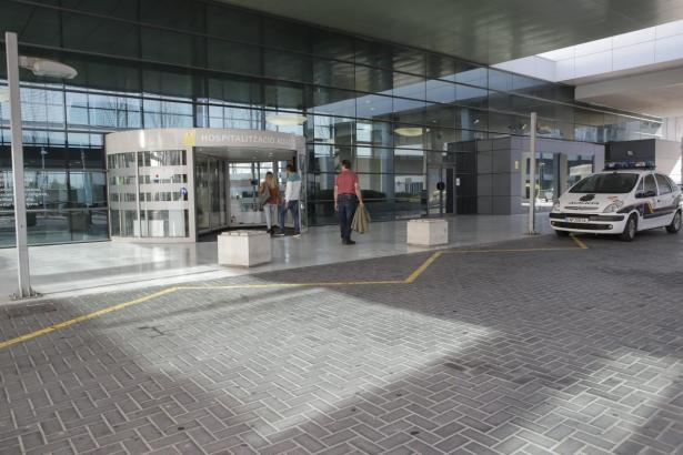 Blick auf den Eingang des Son-Espases-Krankenhauses.