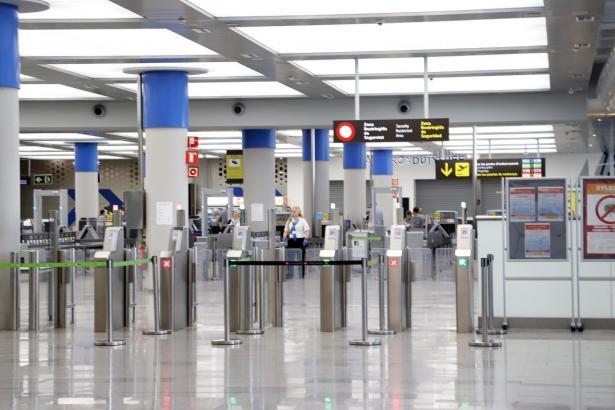 Der Insel-Airport ist dieser Tage verwaist.